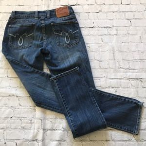 Lucky Brand Jeans 2 26 LoLa Straight Run Stitch